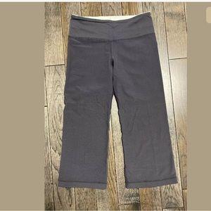 Lululemon Workout Capris, Size 4, Charcoal Gray